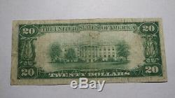 20 $ 1929 Tilton New Hampshire Nh Banque Nationale Monnaie Note Bill! Ch # 1333 Fin