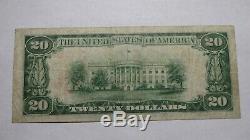 20 $ 1929 Vallejo Californie Ca Banque Nationale Monnaie Note Bill Ch. # 13368 Fin