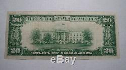 20 $ 1929 Ventura Californie Ca Banque Nationale Monnaie Note Bill Ch. # 12996 Vf