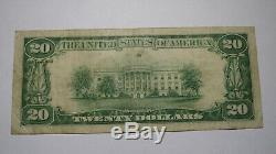 20 $ 1929 Watkins New York, Ny Banque Nationale Monnaie Note Bill Ch. # 9977 Xf