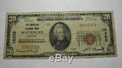 20 $ 1929 Waukegan Illinois IL Banque Nationale Monnaie Note Bill Ch. # 10355 Fin