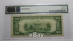 20 $ 1929 Winter Haven En Floride Fl Banque Nationale Monnaie Note Bill Ch # 13437 Vf25