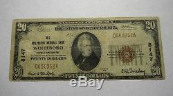 20 $ 1929 Wolfeboro New Hampshire Nh Banque Nationale Monnaie Note Bill Ch # 8147 Vf
