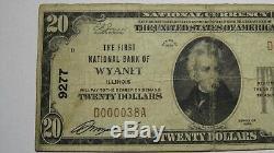 20 $ 1929 Wyanet Illinois IL Billet De Banque! Ch. # 9277 Fin