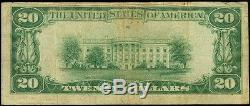 20 $ Detroit Michigan First National Bank 1929 # 10527national Currency