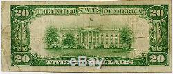 20 $ Devise Nationale Première Banque Nationale Midland MD Type 1 Série De 1929