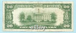 20 $ Monnaie Nationale 1929 Type 1 Ch # 6942 Banque Nationale, Shamokin, Pa Vf +