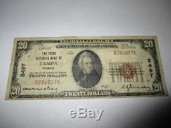 2029 $ 1929 Tampa Floride Fl Banque De La Monnaie Nationale Note Bill Ch. # 3497 Rare