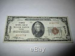 2029 $ 1929 Winter Haven Floride Fl Banque De La Monnaie Nationale Note Bill Ch. # 13437 Vf +