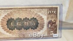 5 $ 1882 Billet De Banque National De La Monnaie De Chicago À Dos Brun (très Haute Teneur)