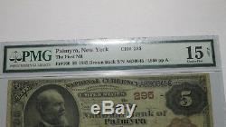 5 $ 1882 Billet De Billets De Banque En Monnaie Nationale Palmyra New York Ny!