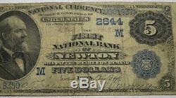 5 $ 1882 Newton Iowa Ia Banque Nationale Monnaie Note Bill Ch. # 2644 Valeur Retour