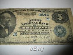 5 $ 1882 Newton Iowa Ia Billets De Banque En Billets De Banque Nationaux Bill Ch. # 2644 Valeur Retour
