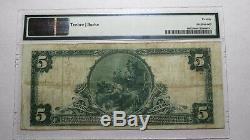5 $ 1902 Anniston Alabama Al Monnaie Nationale De Billets De Banque Bill Ch. # 4250 Vf20 Pmg