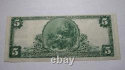 $5 1902 Annville Pennsylvania Ap National Monnaie Banque Note Bill! Ch. #2384 Vf+