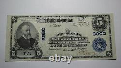 $5 1902 Bernardsville New Jersey Nj National Currency Bank Note Bill! #6960 Xf++