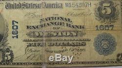 5 $ 1902 Billet De Banque En Monnaie Nationale Weston West Virginia Wv - Bill Ch.
