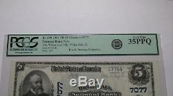 5 $ 1902 Billet De Banque En Monnaie Nationale White Hall Illinois IL N ° 7077 Vf35 Pcgs