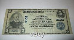 5 $ 1902 Billet De Billet De Banque De La Monnaie Nationale Oakland California Ca! Ch. # 9502 Fin