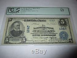 5 1902 $ Cohoes New York Ny Banque De Billets De Banque Nationale Bill # 1347 Pcgs Fine