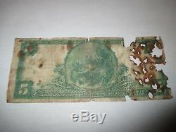 5 1902 $ Columbia City Indiana In Billets De Banque Nationaux En Billets De Banque Bill Ch. # 7132 Rare