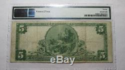5 $ 1902 Eldora Iowa Ia Banque Nationale Monnaie Note Bill Ch. # 9233 Vf! Pmg Graded