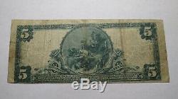 5 $ 1902 Escanaba Michigan MI Banque Nationale Monnaie Note Bill Ch. # 8496 Rare