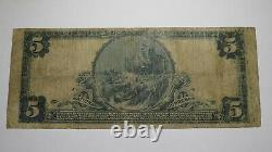 $5 1902 Fayette City Pennsylvania Pa National Currency Bank Note Bill Ch. #6800