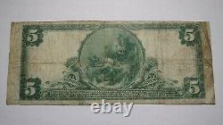 $5 1902 Flora Illinois IL National Currency Bank Note Bill! Ch. #11509 Amende