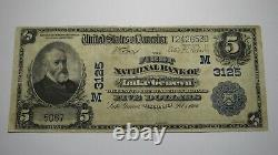 $5 1902 Lake Geneva Wisconsin Wi National Currency Bank Note Bill Ch. #3125 Rare