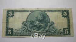 5 $ 1902 Lewiston Maine Me Billet De Banque National! Ch. # 2260 Vf! Rare