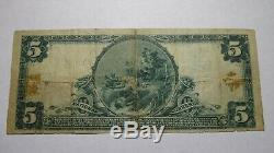 5 $ 1902 Mohawk De New York Ny Banque Nationale Monnaie Note Bill! Ch. # 1130 Vf