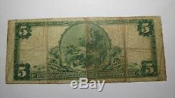 5 $ 1902 Mont Pulaski Illinois IL Banque Nationale Monnaie Note Bill # 3839 Beaux Mt