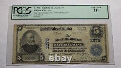$5 1902 Northborough Massachusetts Ma Banque Nationale De Devises Note Bill 1279 Pcgs