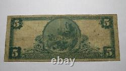 5 $ 1902 Petersburg Virginia Va Banque Nationale Monnaie Note Bill! Ch # 7709 Rare