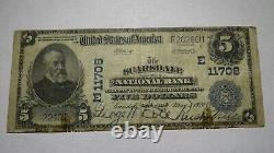 $5 1902 Scarsdale New York Ny National Currency Bank Note Bill Ch. #11708 Fine