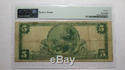 5 $ 1902 Spring Mills Pennsylvania Pa Banque Nationale Monnaie Note Bill # 11213 Pmg
