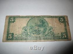 $ 5 1902 Toms River New Jersey Nj Note De La Banque Nationale De Billets De Billets! Ch # 2509 Rare