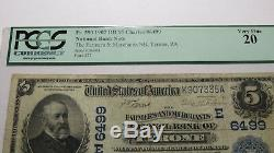 5 $ 1902 Tyrone Pennsylvania Pa Banque Nationale Monnaie Note Bill Ch. # 6499 Pcgs