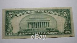 5 $ 1929 Billet De Banque National De Mers Hershey Pennsylvania Pa National Bill Ch. # 12668 Vf +