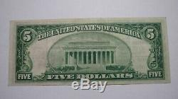 5 $ 1929 Billet De Billet De Banque De La Devise Nationale De Royersford Pennsylvanie Pa! # 3551 Vf ++