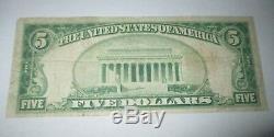 5 $ 1929 Billet De Billet De Banque De La Monnaie Nationale Massachusetts Massachusetts Ma! Ch # 986 Bien