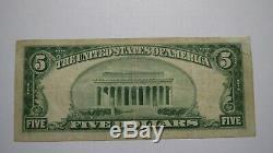 5 $ 1929 Billet De Billets De Banque En Monnaie Nationale De Belleville, Illinois, Il! Ch. # 2154 Fin