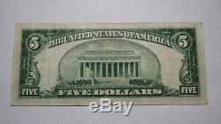 $ 5 1929 Braddock Pennsylvania Pa Banque Nationale Monnaie Note Bill Ch. # 2828 Vf