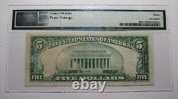 5 1929 Clay City Kentucky Ky Monnaie Nationale Note De La Banque Bill Ch #4217 F15 Pmg