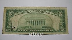 $5 1929 Denison Iowa Ia National Currency Bank Note Bill! Charte #4784 Rare