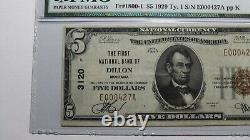 5 1929 Dillon Montana Mt Monnaie Nationale Banque Note Bill Ch. #3120 Vf25 Pmg