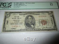 5 $ 1929 Dover Delaware De Monnaie Nationale De Billets De Banque Bill Ch. # 1567 Beaux Pcgs