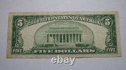 $5 1929 Durant Oklahoma Ok Monnaie Nationale Banque Note Bill Ch. #13018 Rare