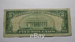 $ 5 1929 El Reno Oklahoma Ok Banque Nationale Monnaie Note Bill! Ch. # 4830 Fin